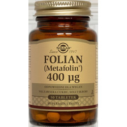 Folian (Metafolin®) 400 µg - suplement diety