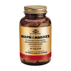 Wapń i Magnez w postaci cytrynianu 50  - suplement diety
